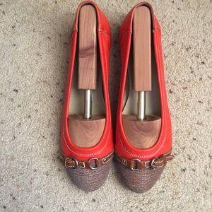 AGL Orange Toe Cap Ballet Shoes